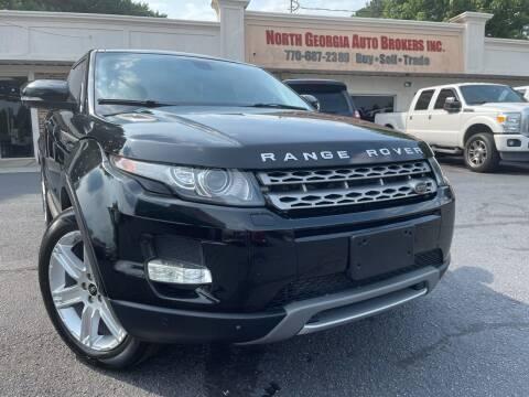 2013 Land Rover Range Rover Evoque Coupe for sale at North Georgia Auto Brokers in Snellville GA