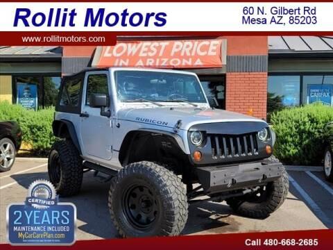 2010 Jeep Wrangler for sale at Rollit Motors in Mesa AZ