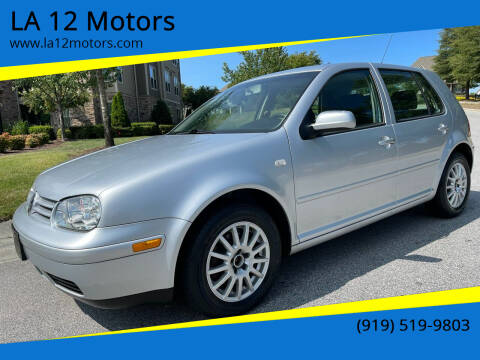 2004 Volkswagen Golf for sale at LA 12 Motors in Durham NC