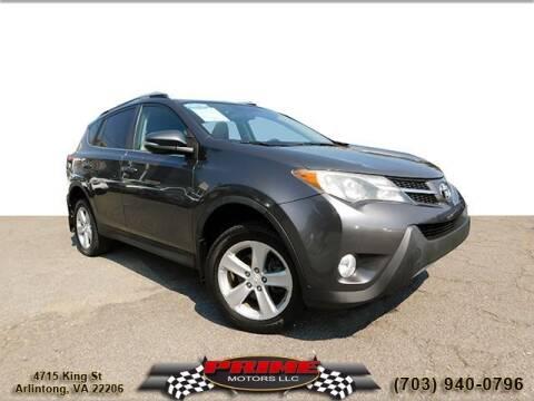 2013 Toyota RAV4 for sale at PRIME MOTORS LLC in Arlington VA