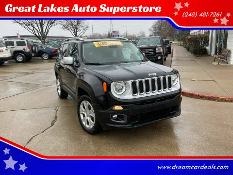 2016 Jeep Renegade for sale at Great Lakes Auto Superstore in Pontiac MI