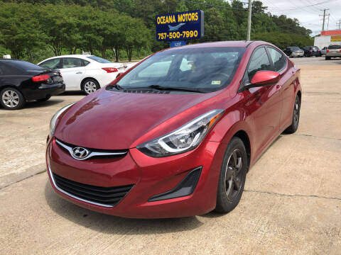 2015 Hyundai Elantra for sale at Oceana Motors in Virginia Beach VA