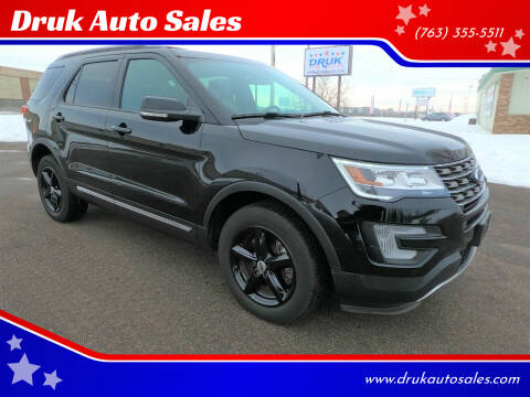 2017 Ford Explorer for sale at Druk Auto Sales in Ramsey MN