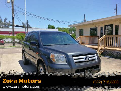 2006 Honda Pilot for sale at Zora Motors in Houston TX