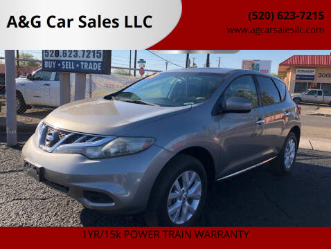 2012 Nissan Murano for sale at A&G Car Sales  LLC in Tucson AZ