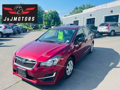 2016 Subaru Impreza for sale at J & J MOTORS in New Milford CT