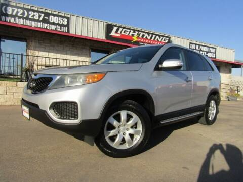 2012 Kia Sorento for sale at Lightning Motorsports in Grand Prairie TX