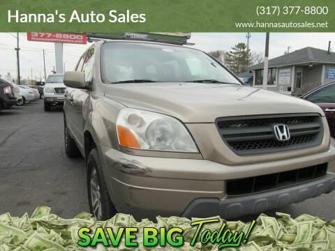 2003 Honda Pilot for sale at Hanna's Auto Sales in Indianapolis IN