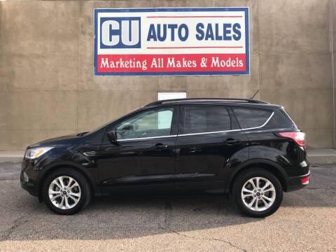 2018 Ford Escape for sale at C U Auto Sales in Albuquerque NM