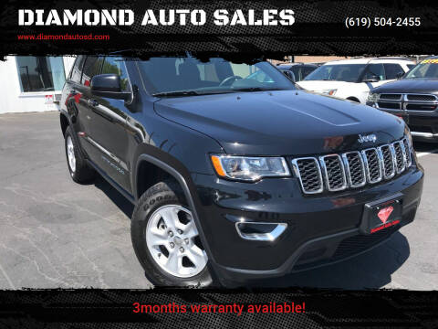 2017 Jeep Grand Cherokee for sale at DIAMOND AUTO SALES in El Cajon CA