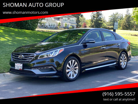 2015 Hyundai Sonata for sale at SHOMAN AUTO GROUP in Davis CA