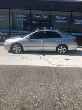 2006 Honda Accord for sale at Georgia Certified Motors in Stockbridge GA