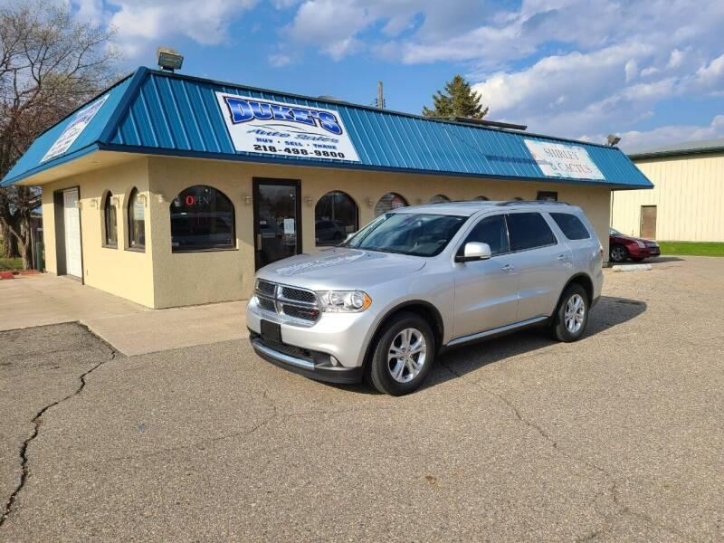 2013 Dodge Durango for sale at Dukes Auto Sales in Glyndon MN