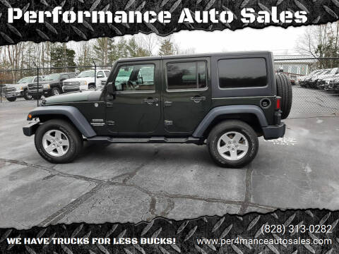 2011 Jeep Wrangler Unlimited for sale at Performance Auto Sales in Hickory NC