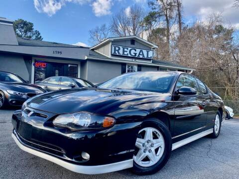 2002 Chevrolet Monte Carlo for sale at Regal Auto Sales in Marietta GA