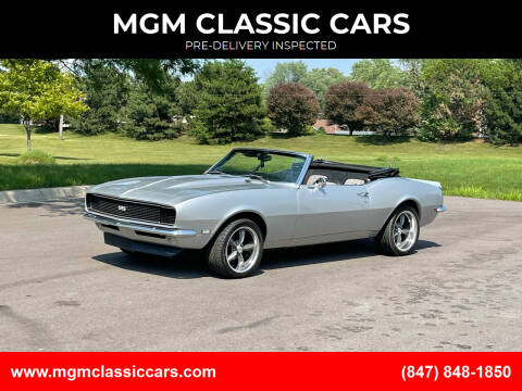 1968 Chevrolet Camaro for sale at MGM CLASSIC CARS-New Arrivals in Addison IL