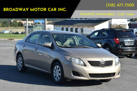 2009 Toyota Corolla for sale at Broadway Motor Car Inc. in Rensselaer NY
