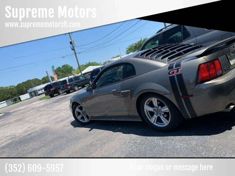 2002 Ford Mustang for sale at Supreme Motors in Tavares FL