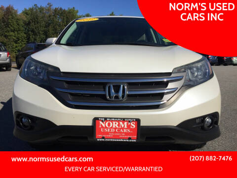 2012 Honda CR-V for sale at NORM'S USED CARS INC in Wiscasset ME