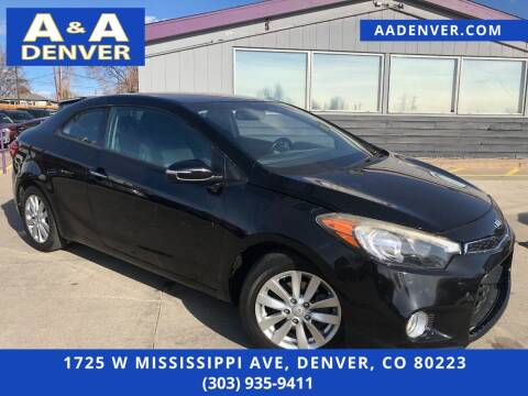 2015 Kia Forte Koup for sale at A & A AUTO LLC in Denver CO