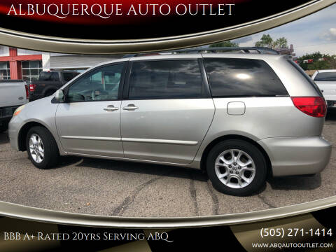 2006 Toyota Sienna for sale at ALBUQUERQUE AUTO OUTLET in Albuquerque NM
