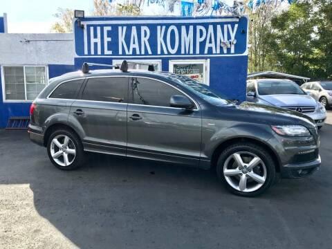 2013 Audi Q7 for sale at The Kar Kompany Inc. in Denver CO