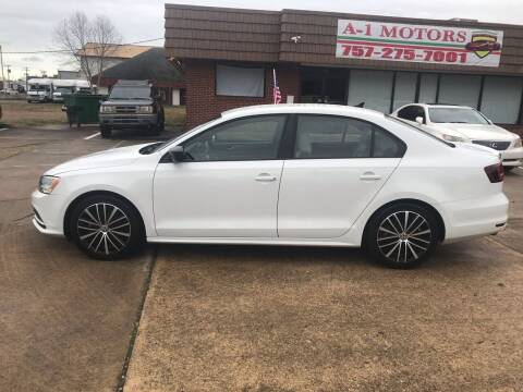 2016 Volkswagen Jetta for sale at A-1 Motors in Virginia Beach VA