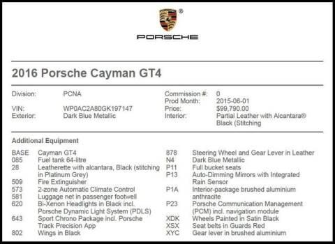 2016 Porsche Cayman for sale at RAC Performance in Carrollton TX