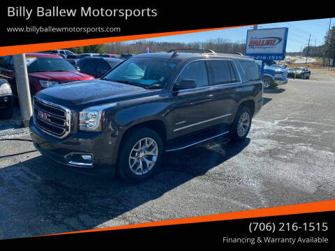 2017 GMC Yukon for sale at Billy Ballew Motorsports in Dawsonville GA