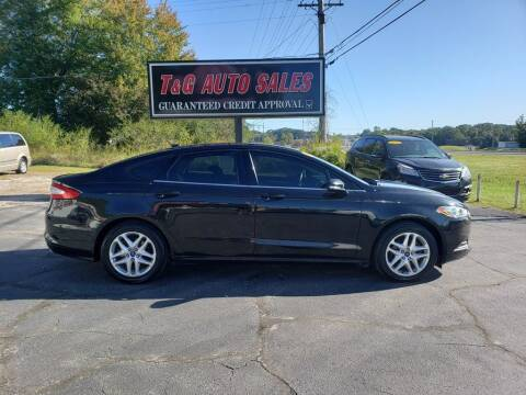 2013 Ford Fusion for sale at T & G Auto Sales in Florence AL