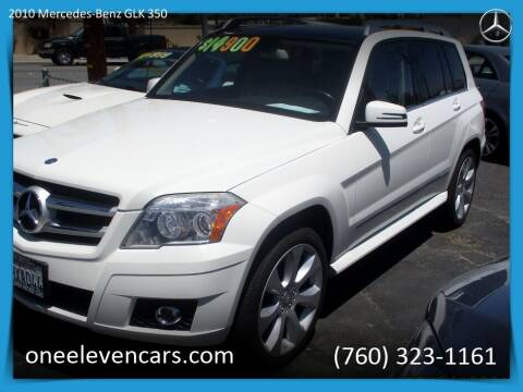 2010 Mercedes-Benz GLK for sale at One Eleven Vintage Cars in Palm Springs CA