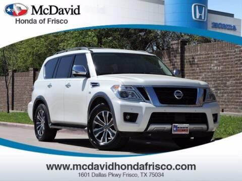 2018 Nissan Armada for sale at DAVID McDAVID HONDA OF IRVING in Irving TX