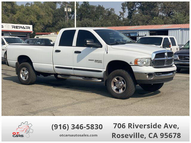 2005 Dodge Ram Pickup 2500 for sale at OT CARS AUTO SALES in Roseville CA