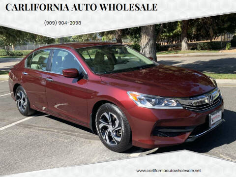 2017 Honda Accord for sale at CARLIFORNIA AUTO WHOLESALE in San Bernardino CA