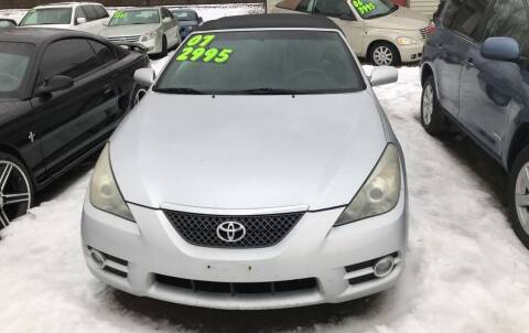 2007 Toyota Camry Solara for sale at Richard C Peck Auto Sales in Wellsville NY