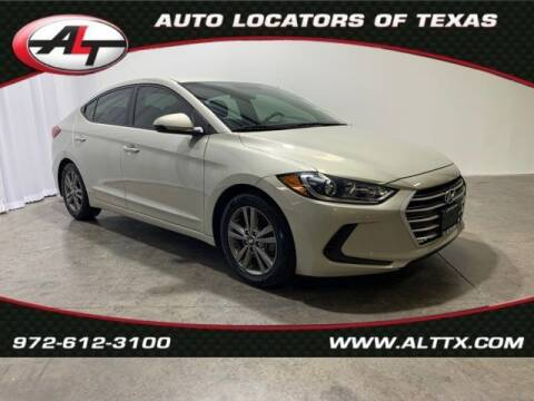 2017 Hyundai Elantra for sale at AUTO LOCATORS OF TEXAS in Plano TX