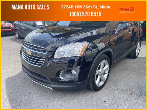 2016 Chevrolet Trax for sale at MANA AUTO SALES in Miami FL