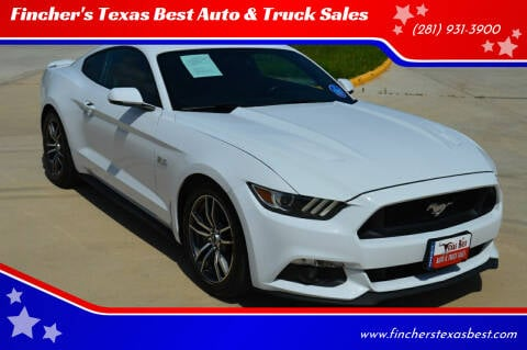 2017 Ford Mustang for sale at Fincher's Texas Best Auto & Truck Sales in Tomball TX