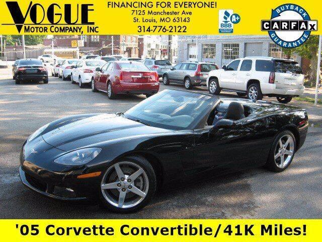 2005 Chevrolet Corvette for sale at Vogue Motor Company Inc in Saint Louis MO