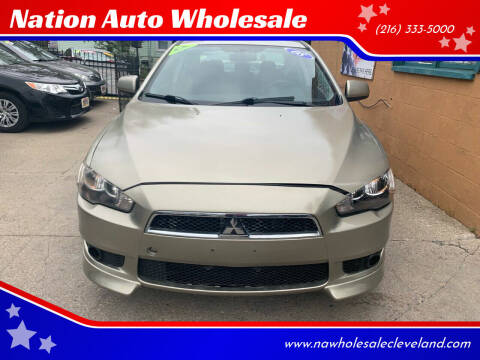 2008 Mitsubishi Lancer for sale at Nation Auto Wholesale in Cleveland OH