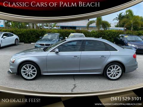 2015 Audi A4 for sale at Classic Cars of Palm Beach in Jupiter FL