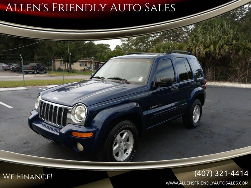 2002 Jeep Liberty for sale at Allen's Friendly Auto Sales in Sanford FL