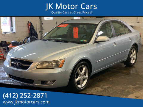 2007 Hyundai Sonata for sale at JK Motor Cars in Pittsburgh PA