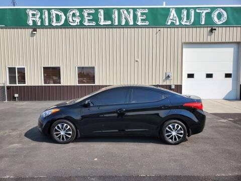 2013 Hyundai Elantra for sale at RIDGELINE AUTO in Chubbuck ID
