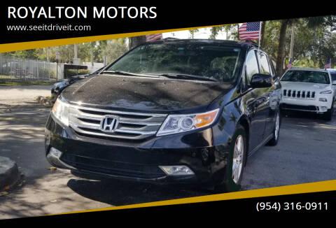 2013 Honda Odyssey for sale at ROYALTON MOTORS in Plantation FL