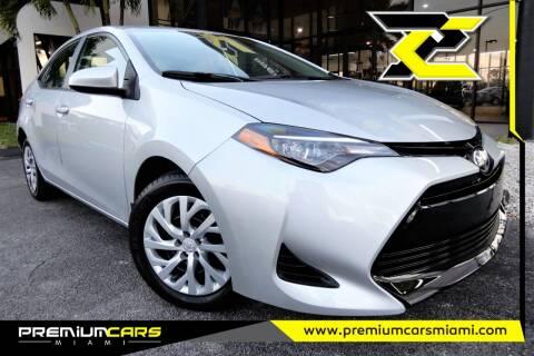 2019 Toyota Corolla for sale at Premium Cars of Miami in Miami FL