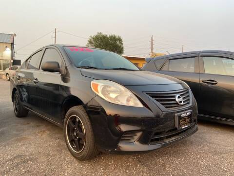 2013 Nissan Versa for sale at BELOW BOOK AUTO SALES in Idaho Falls ID