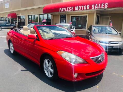 2006 Toyota Camry Solara for sale at Payless Motor Sales LLC in Burlington NC
