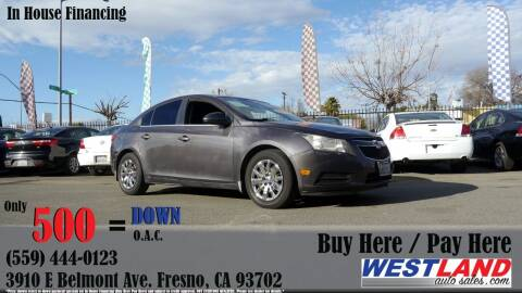 2011 Chevrolet Cruze for sale at Westland Auto Sales in Fresno CA