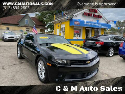 2015 Chevrolet Camaro for sale at C & M Auto Sales in Detroit MI